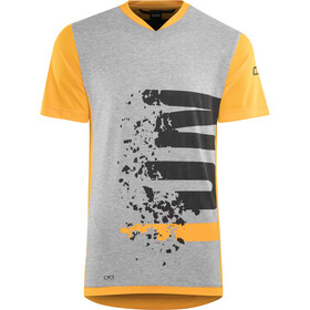 ION Letters Scrub AMP T-Shirt Heren, smiley yellow